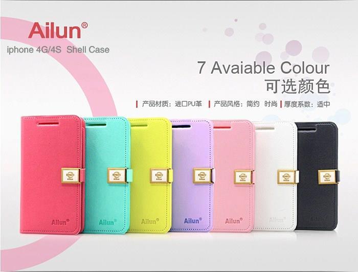 เคสฝาพับ iPhone 5/5s DER Ailun Leather Case