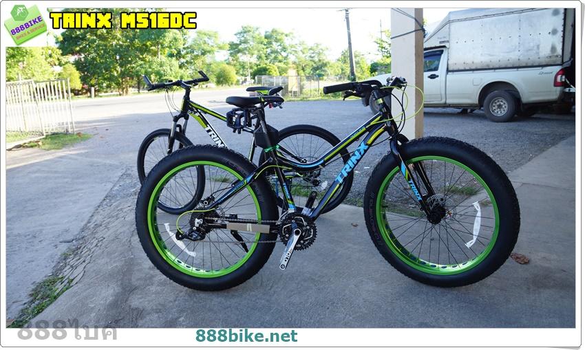 """จักรยานล้อโต TRINX FAT-BIKE ,M516DC ล้อ 26"""" 27สปีด ดิสน้ำมัน เฟรมอลู ดุมNovatec Bearing 2016"""
