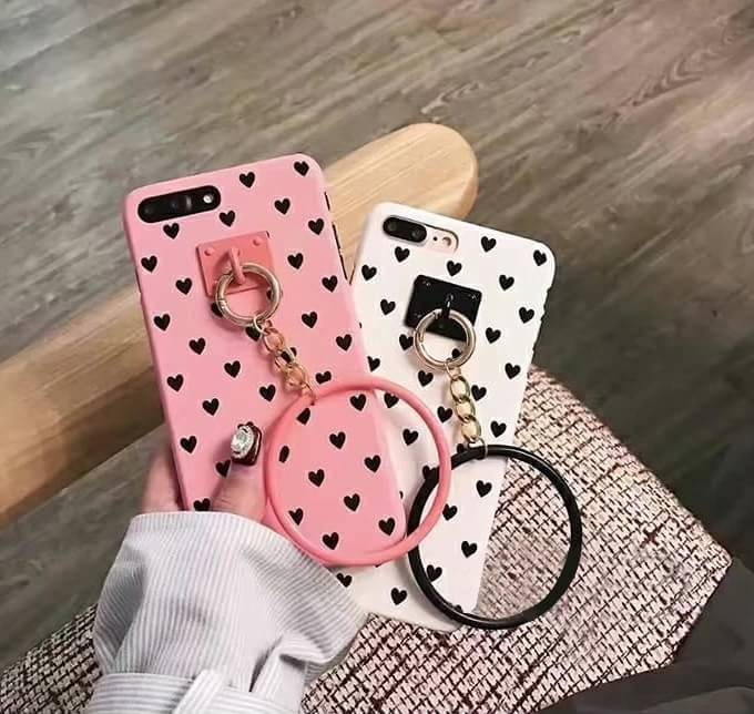 เคส Pc ห้อยห่วงกลม ลายหัวใจ ไอโฟน 5/5se/5s