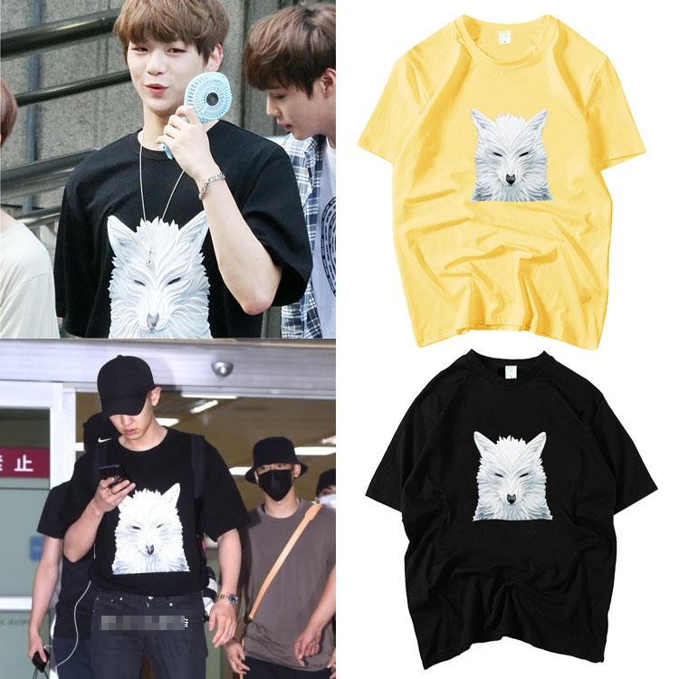 เสื้อยืด (T-Shirt) ลายหมาป่า แบบ Daniel WANNA ONE
