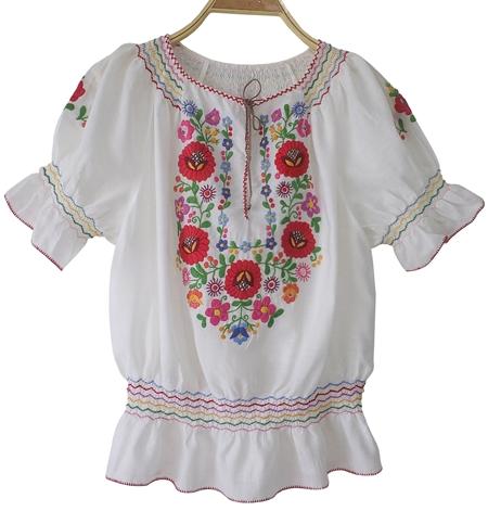 เสื้อวินเทจ Vintage Hungary Embroidered