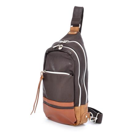 กระเป๋าสะพายข้าง Anello รุ่น AT-25152 สี Dark Brown
