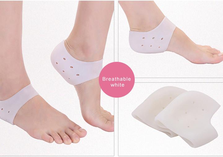 ซิลิโคนถนอมส้นเท้า รองส้นเท้า (สีขาว) : ดูแลส้นเท้าแตก ถนอมดูแลเท้า ปวดเท้า รองช้ำ