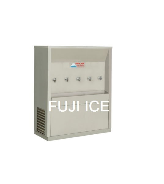 ตู้ทำน้ำเย็นต่อท่อประปา 5 ก๊อก ฟูจิไอซ์