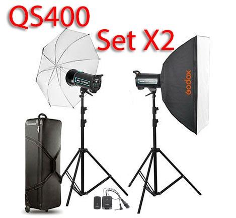 QS400 Set 400W X2 Professional Flash Godox Studio Kit ชุดแฟลชสตูดิโอ