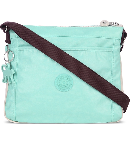 Kipling Moyelle Lacq Mint Aub กระเป๋าสะพายน่ารัก ขนาด 25 L x 18 H x 7 W cm สำเนา