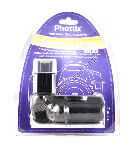 Phottix BP-A550 Premium Grip for Sony A500 A550 A450 A550 A560 A580 VG-B50AM(Compatible) New