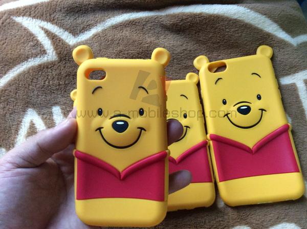 เคส iPhone 4/4s ซิลิโคนแบบนิ่มลายหมีพูห์