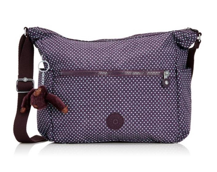 Kipling Alenya Small Dot Pr Au จากเบลเยี่ยม กระเป๋าสะพายข้าง มีช่องเก็บของด้านข้าง ขนาด 32 L x 32 H x 14.5 W cm medium