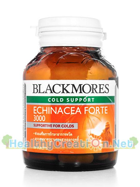 Blackmores Echinacea Forte 3000 บรรจุ 60 เม็ด ช่วยทำให้หายจากอาการหวัดได้เร็วขึ้น ช่วยเสริมกับการรักษาหลักในการรักษาอาการจากหวัด