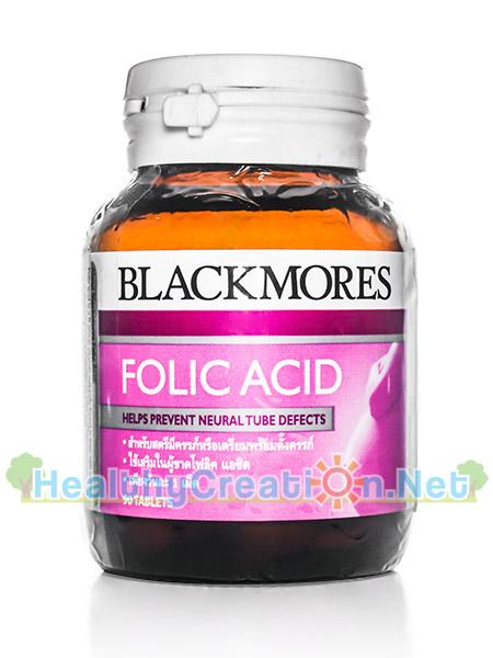 Blackmores Folic Acid แบลคมอร์ส โฟลิค เอซิด บรรจุ 90 เม็ด เหมาะสำหรับหญิงที่ต้องการเตรียมพร้อมจะมีบุตร หรือผู้ที่ต้องการ บำรุงเลือด