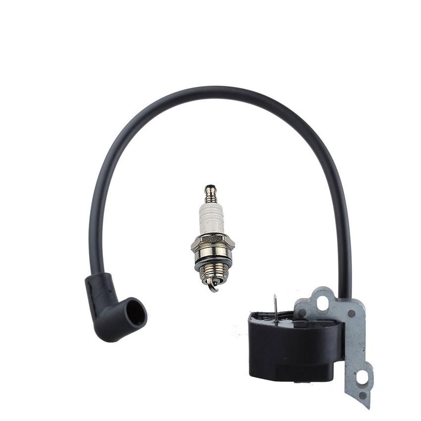 Ignition Coil Module Spark Plug for Poulan 2350 2375 2450 2550 222 262 BH2160 BH2160LE BH2660 Gas Chain Saw
