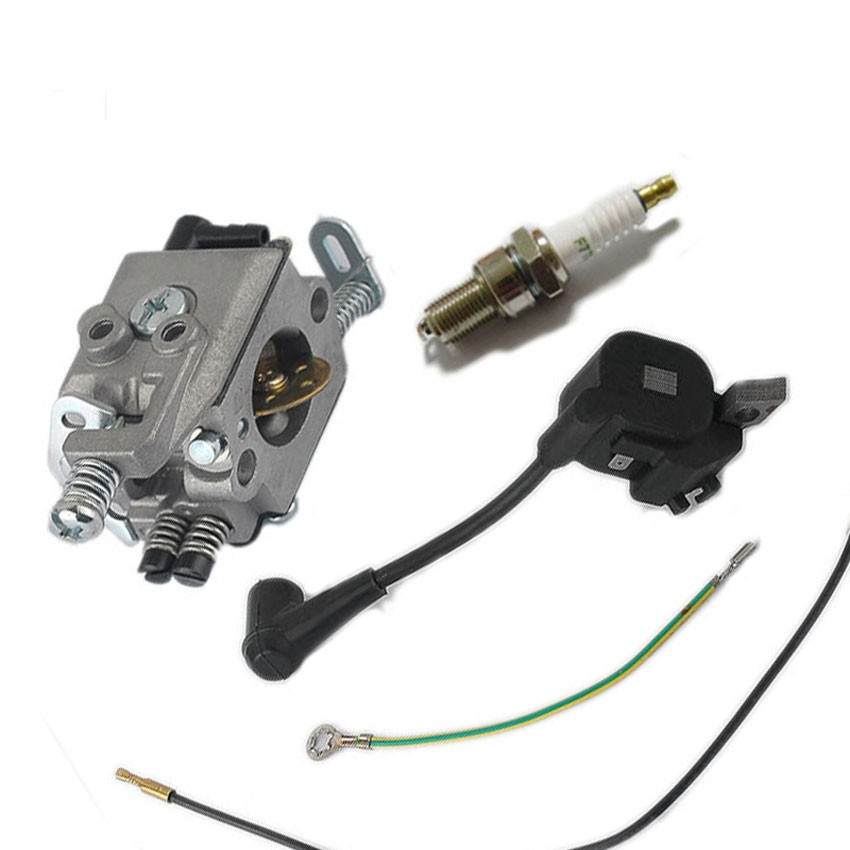 Carburettor Carb Ignition Coil Spark Plug For STIHL MS170 MS180 017 018 ChainSaw