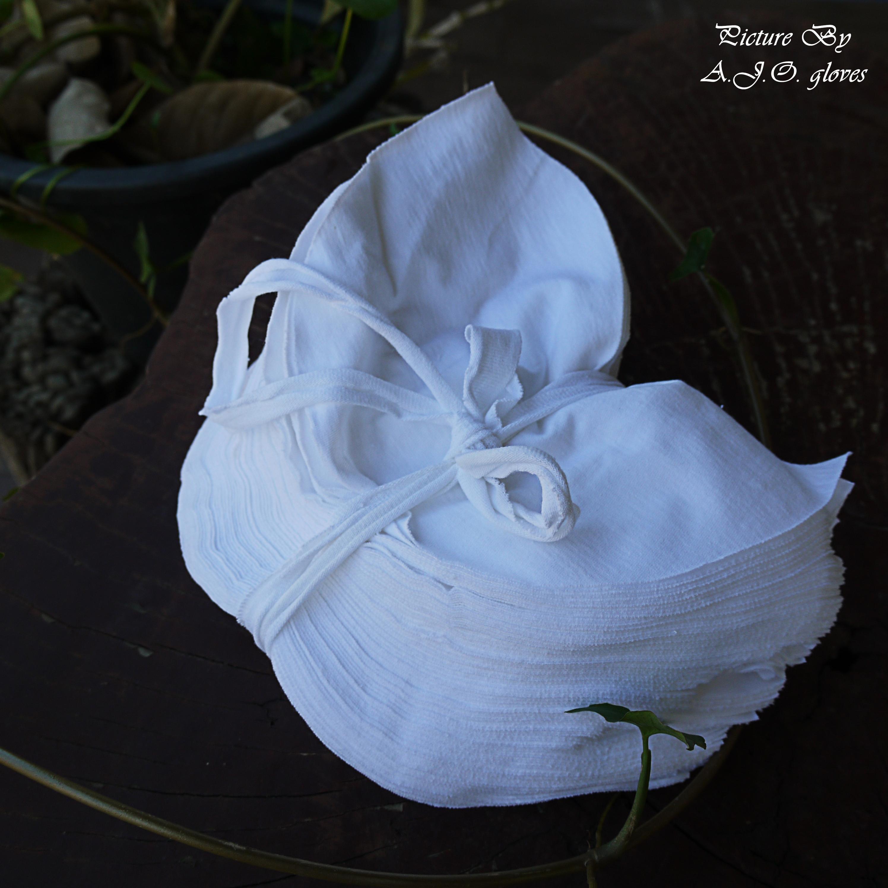เศษผ้าขาวปึก 4-3นิ้ว เนื้อรวม
