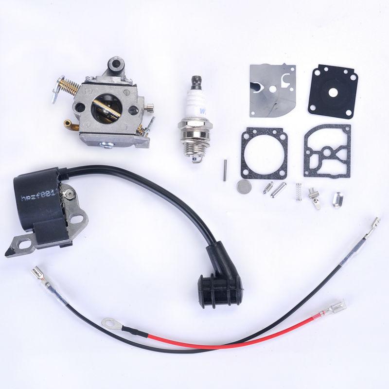 Carburetor + Ignition Coil + Repair Gasket + Spark Plug Chainsaw parts For STIHL 017 018 MS 170 MS 180 Carb Carburador