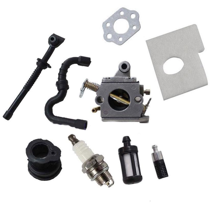 Caruretor carb Fuel / oil line Air Filter Kits For STIHL 017 018 MS170 MS180 (zama)