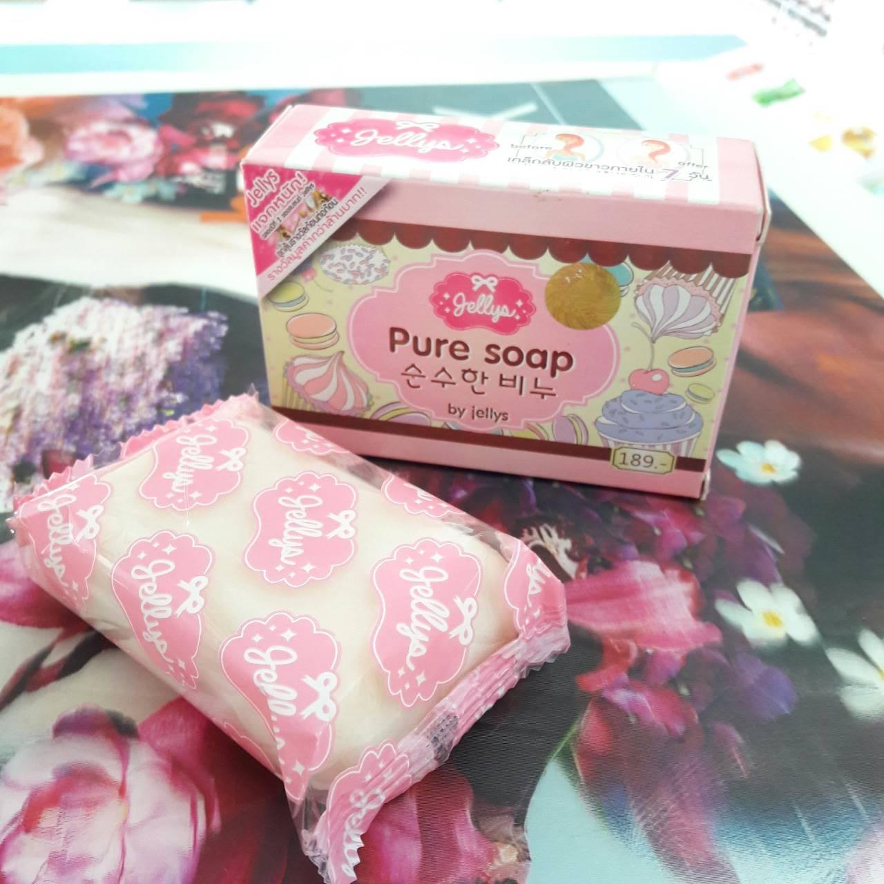 Pure Soap By Jellys สบู่เจลลี่ ลดฝ้า กระ จุดด่างดำ ลดการเกิดสิว 90 บาท