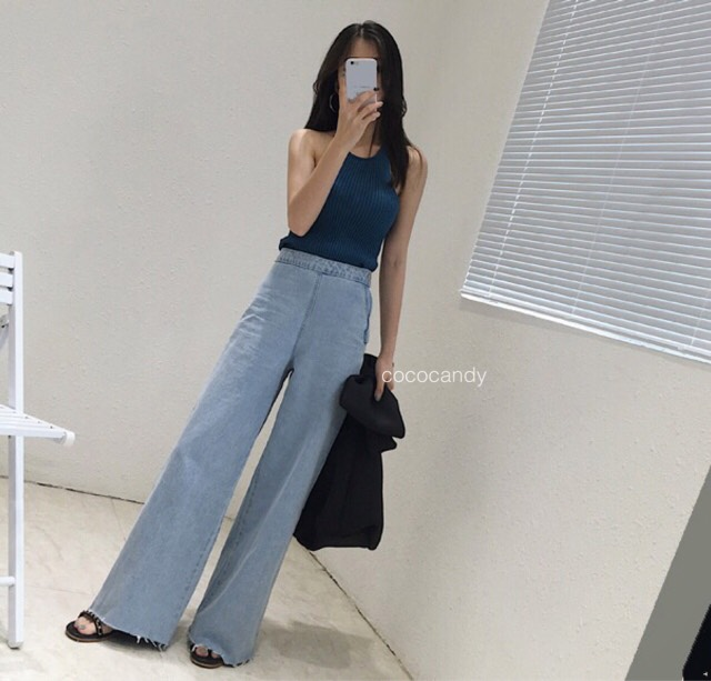 กางเกงยีนส์ Yoona Wide-leg Denim