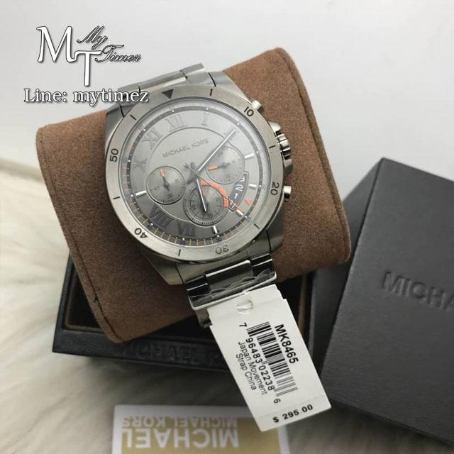 นาฬิกาข้อมือ MICHAEL KORS รุ่น Brecken Chronograph Grey Dial Men's Watch MK8465
