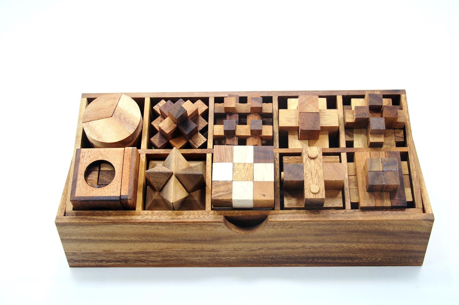 เกมส์ไม้เซต 10 ชิ้น ของเล่นเสริมพัฒนาการ เกมส์ฝึกสมอง ของเล่นไม้