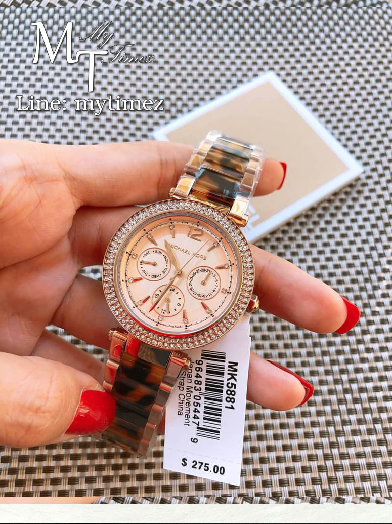 นาฬิกาข้อมือ MICHAEL KORS รุ่น Darci Rose Gold Tone Tortoise Watch - MK5881