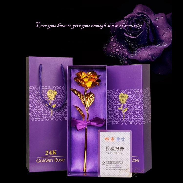 Golden Rose ดอกกุหลาบทอง 24 k พร้อมกล่อง / สีทอง