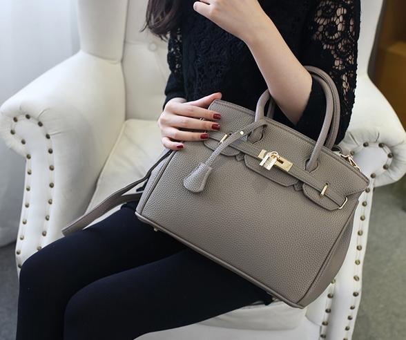 กระเป๋าสะพายข้างผู้หญิง PU Nature (สี Gray)