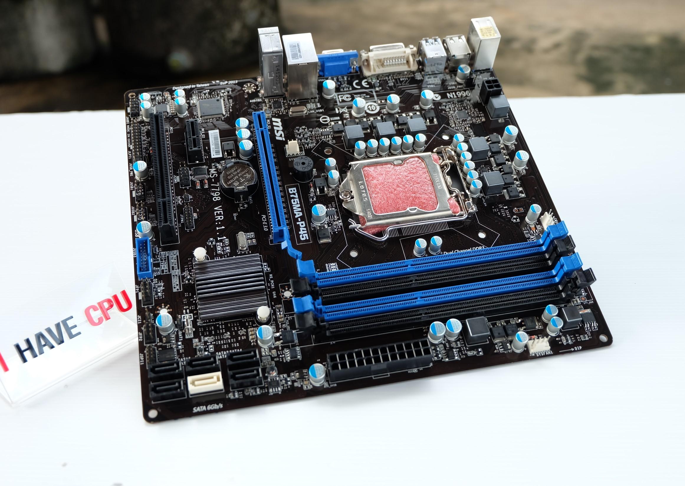 1155 MSI B75MA-P45