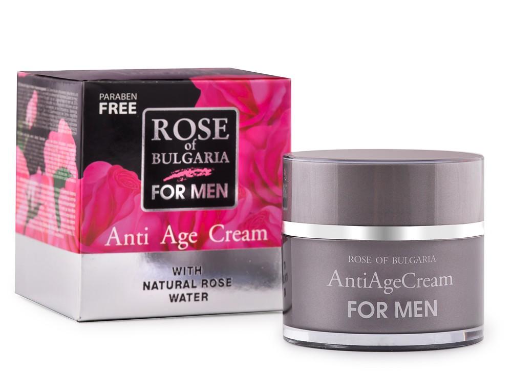Rose of Bulgaria For Men Anti Age Cream ครีมบำรุงผิวหน้าผสมกุหลาบสำหรับผู้ชาย 50ml.