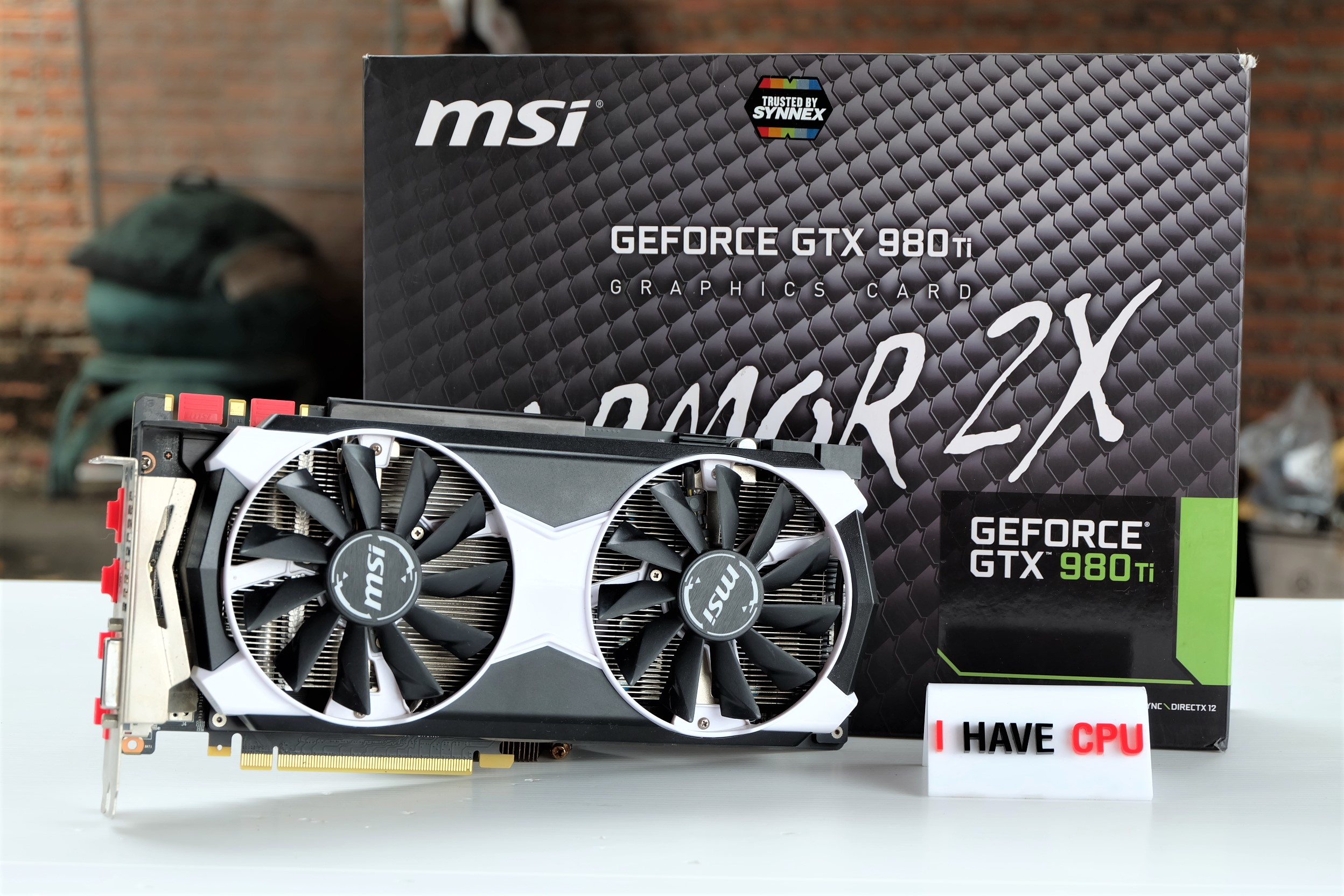 MSI GeForce GTX 980 TI 980ti Armor 2x OC 6gb
