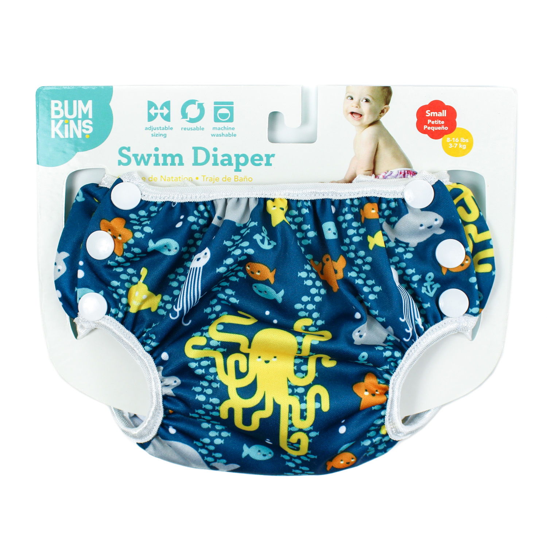 กางเกงผ้าอ้อมว่ายน้ำ Bumkins รุ่น Swim Diapers สีน้ำเงิน