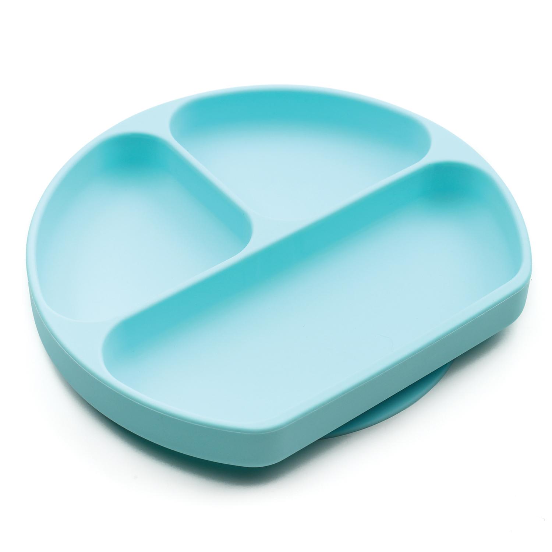 Silicone Grip Dish สีฟ้า