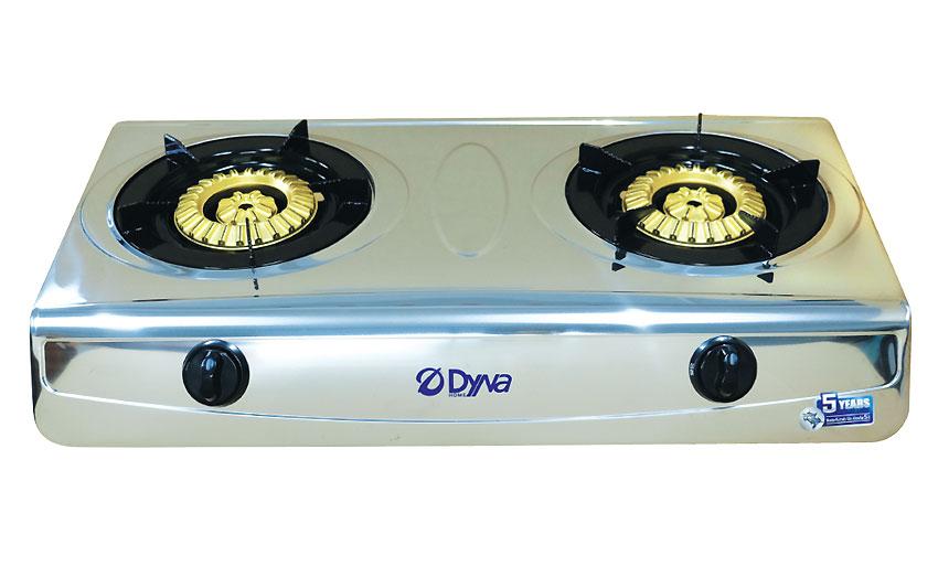 DH-8283 เตาแก๊ส เตาแก๊สสแตนเลส แบบตั้งโต๊ะ หัวเตาแก๊สแบบทองเหลือง 2 หัวเตา แบบกลีบมะเฟือง
