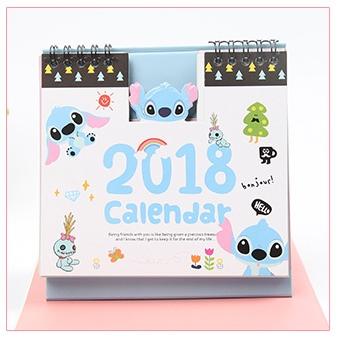 ปฏิทินตั้งโต๊ะ Stitch 2018 #สติช