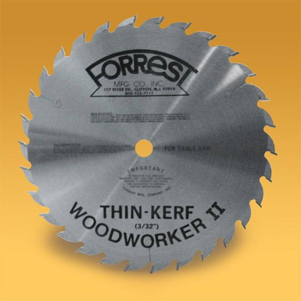 "FORREST WOODWORKER II - 10-Inch 48-tooth ATB 3/32"" Thin Kerf Saw Blade"