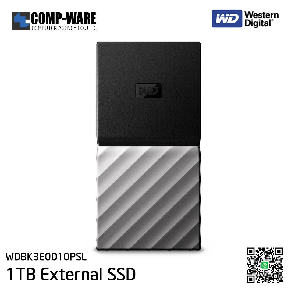 WD 1TB MY PASSPORT SSD Portable Storage - USB 3.1 (Type-C) - Black-Gray - WDBK3E0010PSL