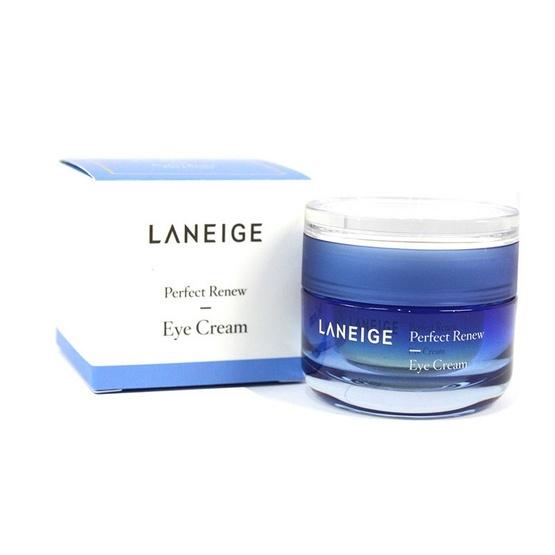 Laneige Perfect Renew Eye Cream 20ml ครีมบำรุงผิวรอบดวงตาที่จะช่วยยกระชับผิวให้เรียบเนียน ช่วยกระตุ้นการสังเคราะห์คอลลาเจน เพื่อผิวอิ่มเอิบ แลดูอ่อนเยาว์ ครีม บำรุงผิวรอบดวงตา สูตรยกระชับผิวให้เรียบเนียนและยืดหยุ่น ด้วยส่วนผสมสุดพิเศษ Ceramide & Skin Char