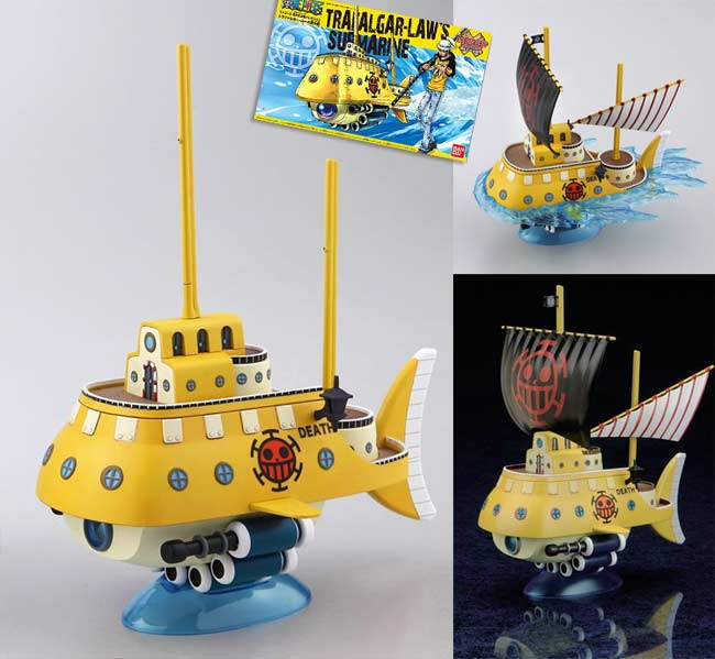 ONE PIECE Trafalgar Law/'s Submarine Model Kit Bandai Grand Ship Collection