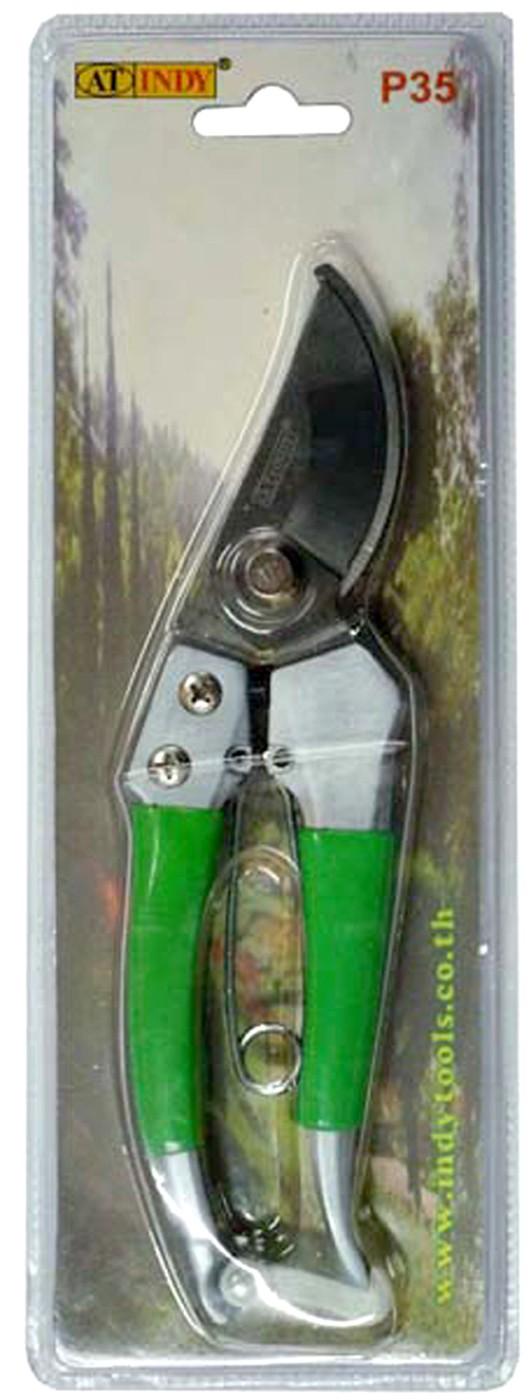 กรรไกรตัดกิ่งด้ามหุ้มยาง P35 เงิน/เขียว