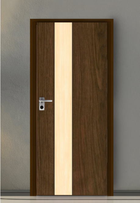 ประตู Leo iDoor Series1 LW-13-New Walnut-Maple(ภายใน) 3.4*80*200 เมตร