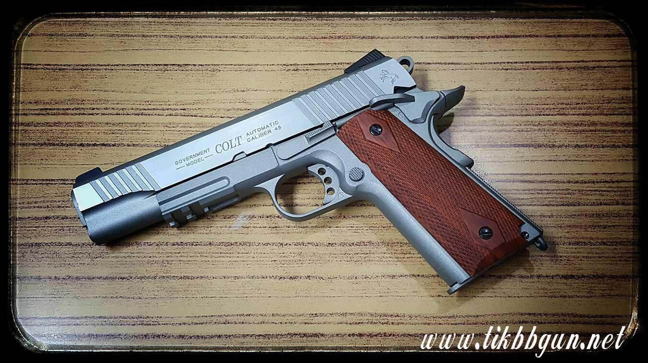 ปืนอัดลม (ปืนระบบแก๊สCo) รุ่น 1911 ทูโทน CyberGun