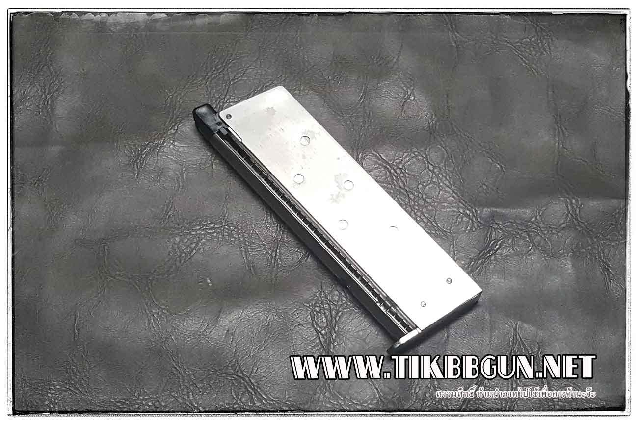 แม๊กสำหรับปืนแก๊สโบลว์แบล็ค (GBB) 1911A1 Silver WE