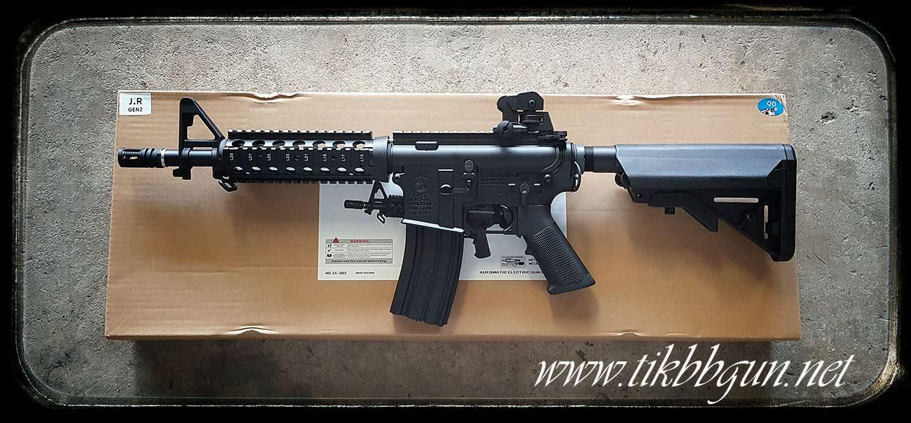 ปืนอัดลมไฟฟ้า M4CQB จาก E&C รุ่น EC302S