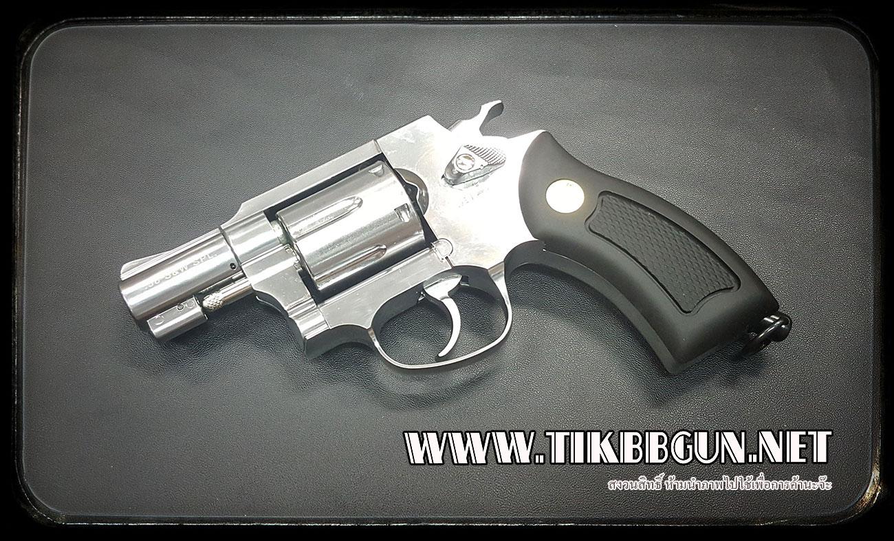 ปืนลูกโม่ ระบบแก๊ส Co2 Wingun733 ฺสีเงิน ขนาด2นิ้ว Gun Heaven