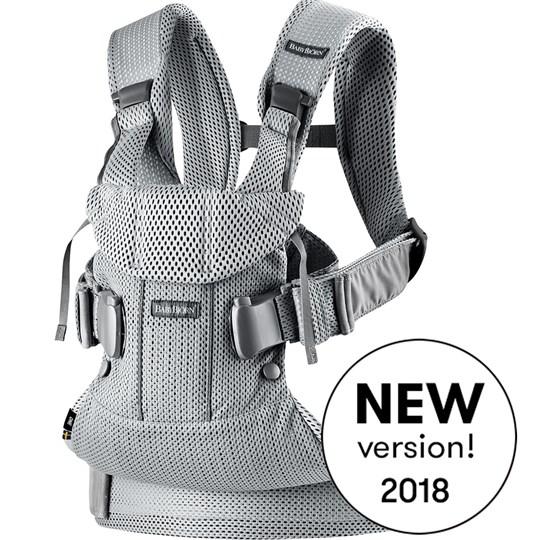 เป้อุ้มเด็ก BABYBJORN Baby Carrier One Air, Silver, 3D Mesh 2018 Version รุ่นใหม่ล่าสุด สีเทาอ่อน