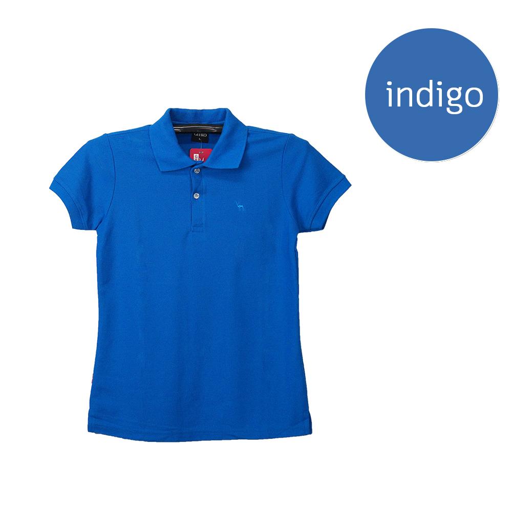 เสื้อโปโลหญิงสีน้ำเงินคราม