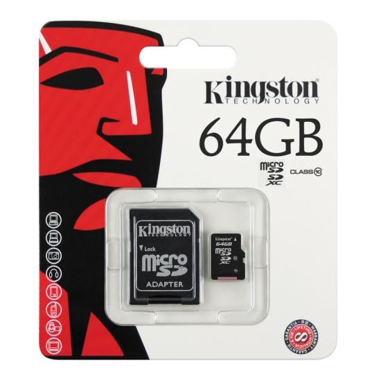 เมมโมรี่การ์ด Kingston 64 GB Class 10