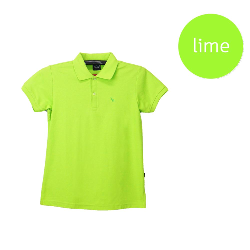 เสื้อโปโลหญิงสีเขียวมะนาว