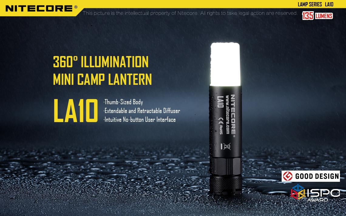 ตะเกียง LED Nitecore LA10 สว่าง 135 ลูเมน