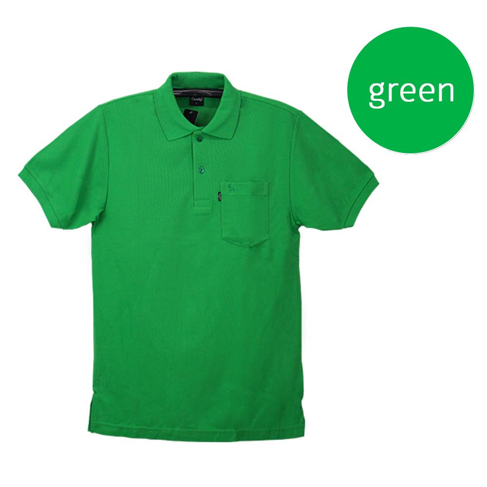 เสื้อโปโลชายสีเขียว